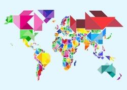 tangram-abstract-world-map